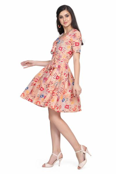 Digital Print Fit and Flare dress