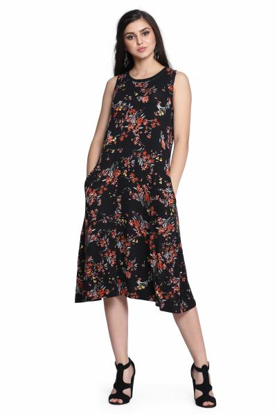 Printed Knitted dress for women