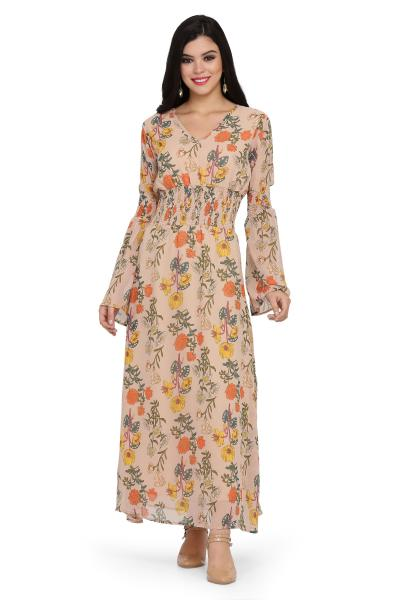 Printed Long Smoking Dress for women