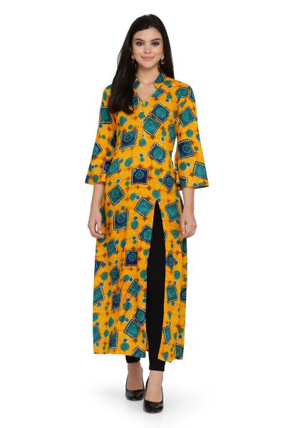 Printed Rayon A-Line Kurti For women