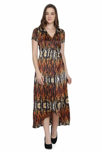 Tiger Print Night Dress for women
