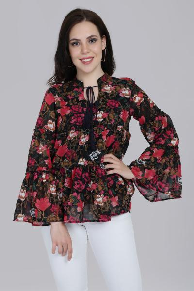Printed Ruffle top for women